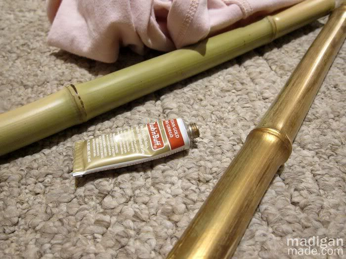 gold wax on bamboo - how to
