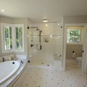 Дизайн ванной в бежевом цвете