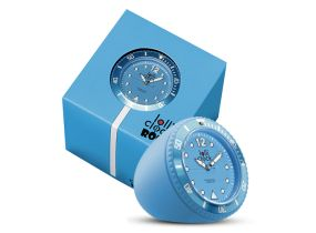 Lolliclock Blue. The ultimate desk accessory or gift. 44mm, ABS Polycarbonite case + PC Rock backcover, 1ATM, PC21S movement. Buy online at www.lolliclock.com.au