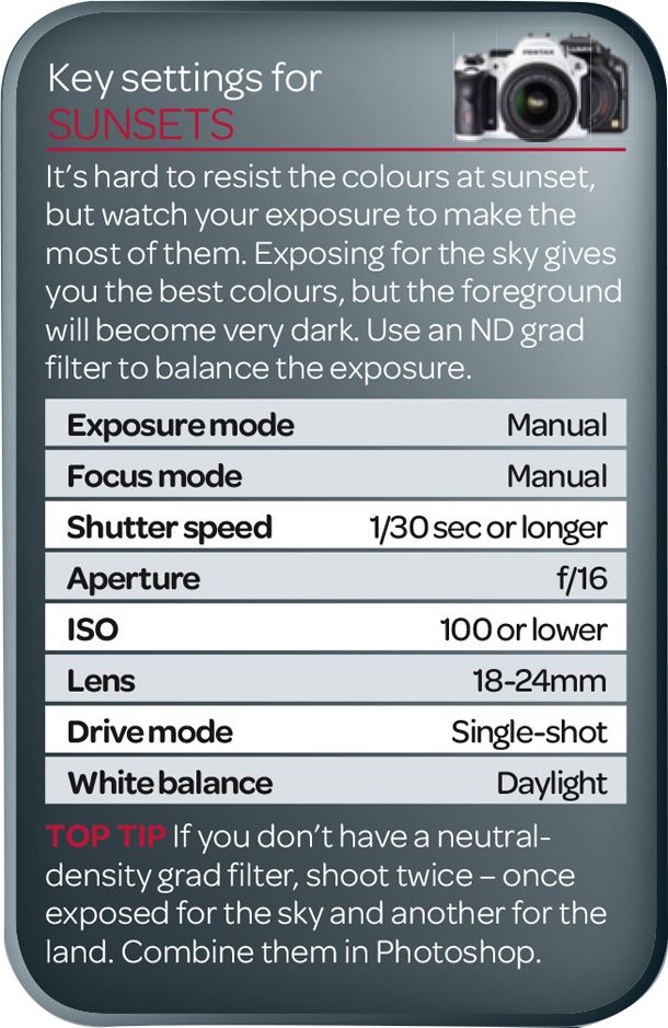 Best camera settings for sunsets (free photography cheat sheet) | Digital Camera World