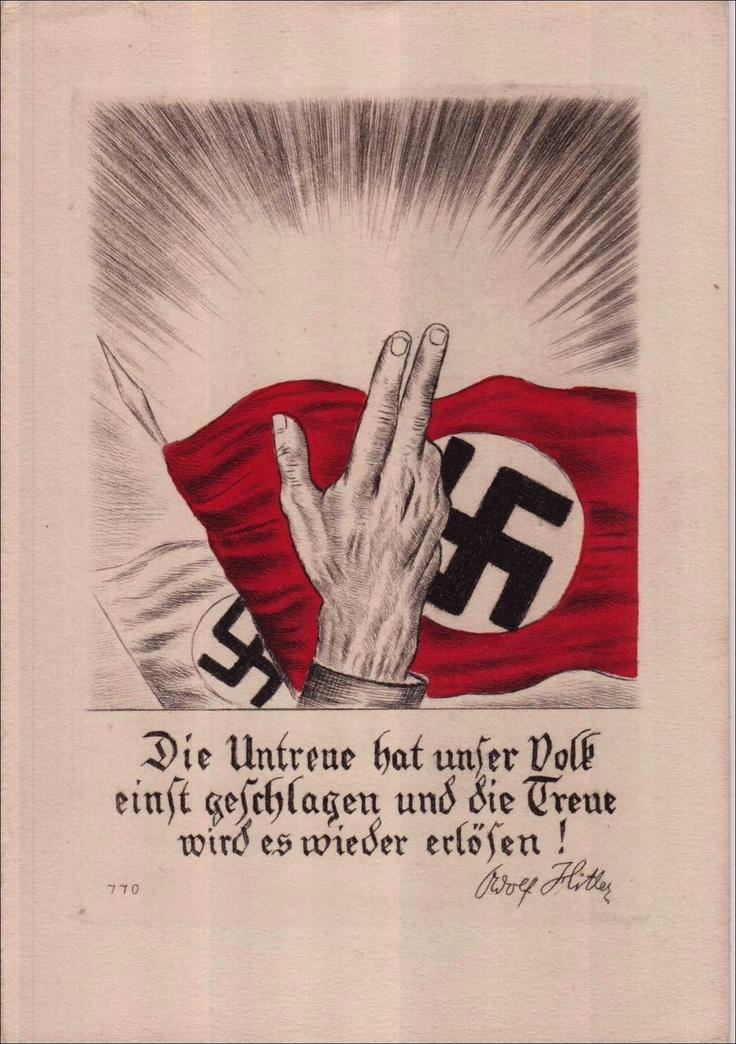 1933, Spruchkarte, Schwurhand mit Fahne - Artikel nicht mehr vorhanden                                                                                                                                                      Mehr