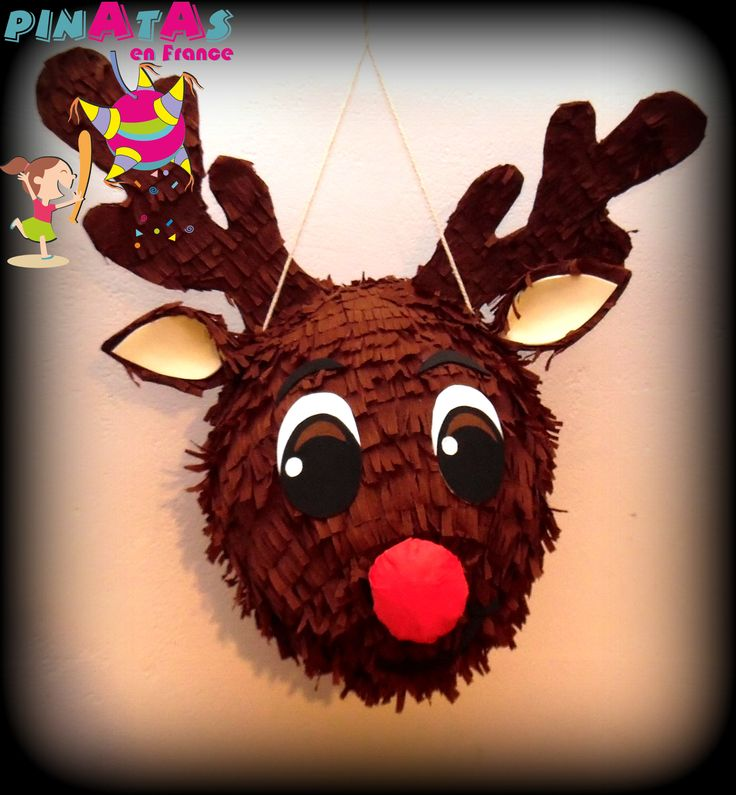 By: Pinatas en France   Online Store https://www.facebook.com/PINATASENFRANCE Pinata Renne ⛄ ❄️ Piñata Reno ⛄ ❄️ Piñata Noël. Jojeux Noël. Christmas Piñata. Christmas. Decoration. Deco. Deco Noël. Christmas Party. Posadas. Piñata Navideña. Piñata Navidad