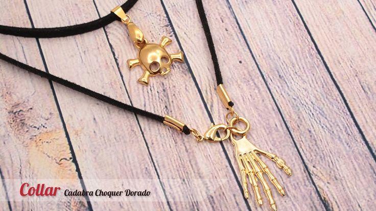 Aprende cómo hacer un Collar Cadabra Choquer para Halloween o Noche de B...