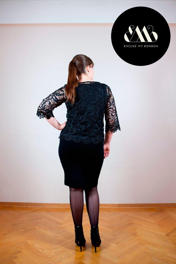 Cora Lace Blouse & Cat Pencil Skirt Photo: Jeremy Barrois Make up: Janne Suono Model: Ninja Sarasalo