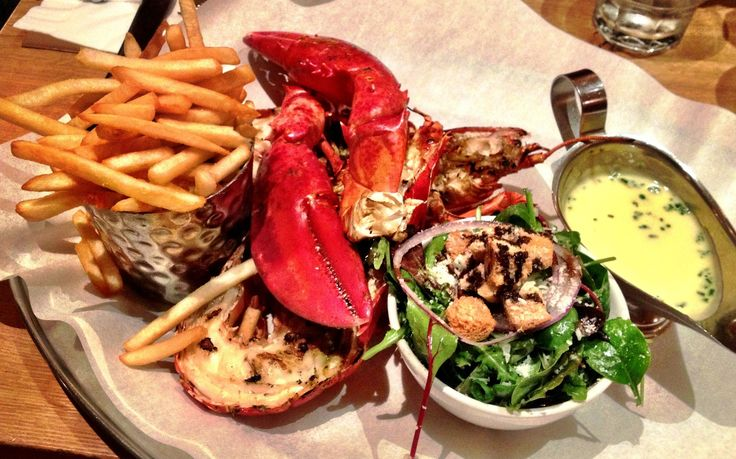 Lobster and fries at Burger & Lobster...to die for!
