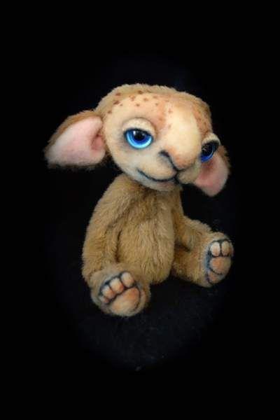 Chocky the little Monster by Lies & Lot Mohair Bears