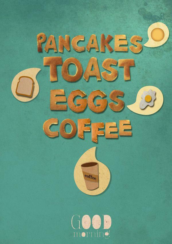 poster pancakes http://www.behance.net/SaraSun