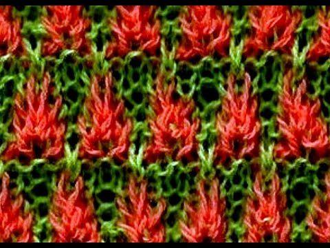 Como Tejer Flores de Fuego 1a.Parte-Fire Flowers 2Agujas (267)