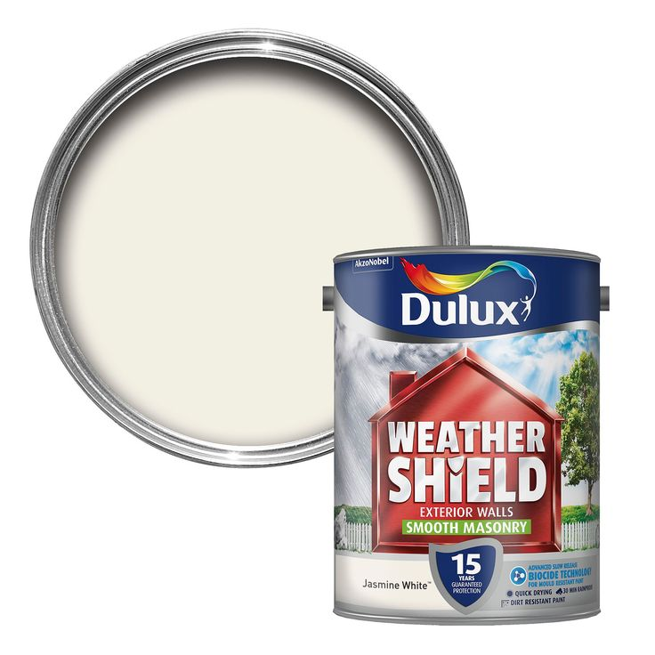 Dulux Weathershield Jasmine White Matt Masonry Paint 5L | Departments | DIY at B&Q