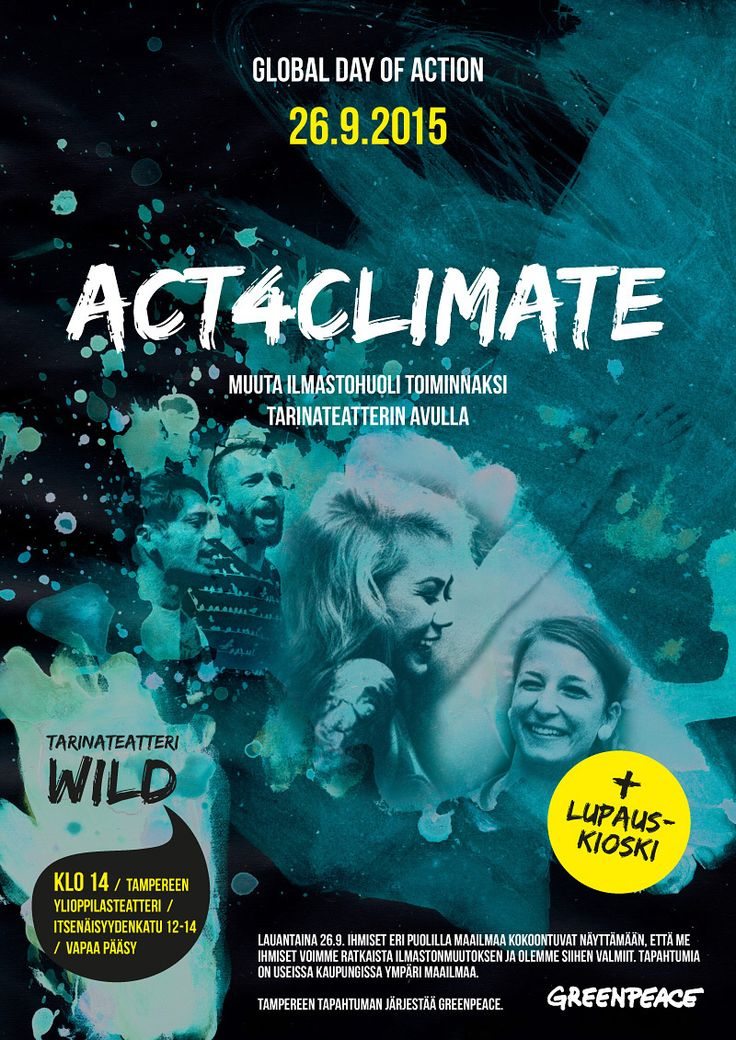 ACT4CLIMATE poster by Teemu Helenius, via Behance