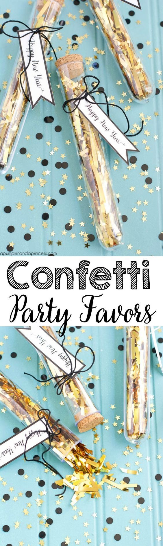 DIY Confetti Party Favors from @crystalowens | NYE Favors | New Year's Eve Party Ideas