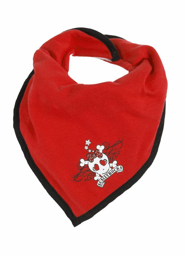 Awesome red skull bandana bib.