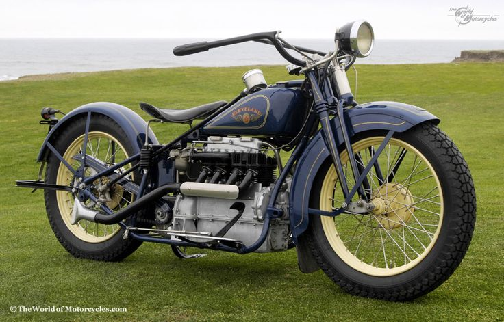 1929 Cleveland Tornado Four 1000 Manufactured by Cleveland Motorcycle Mfg. Co. USA from 1915 to 1929 Owner: Richard Bunch, California