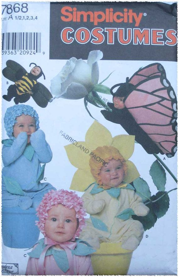 Simplicity Halloween Costume Butterfly Flower Bee by TheHowlingHag, $4.95