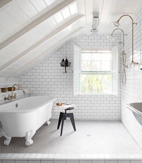 Small Bathroom Makeovers: whitewashed bathroom