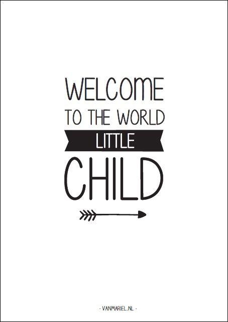A6   Welcome to the world little child   Kaarten A6   vanmariel