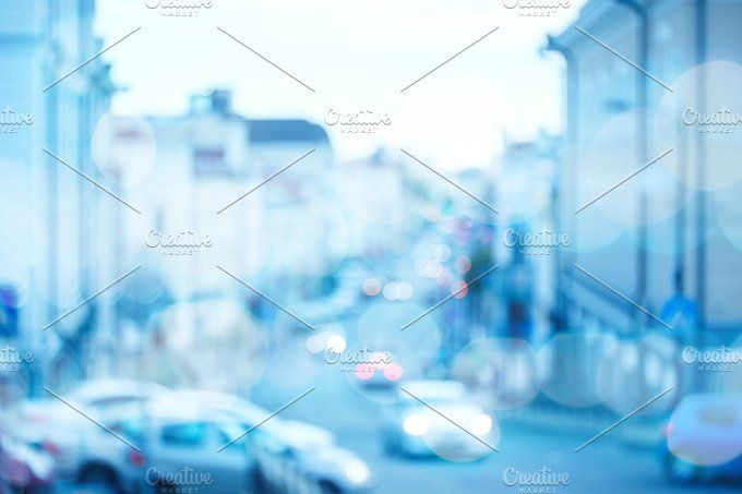 Blurred traffic at the city street Photos Blurred traffic at the city street, urban background by Daria Zu Photo