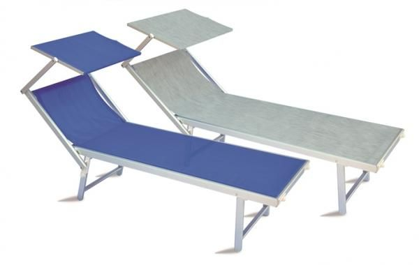 Lagoon Sun Lounger With A Head Shade In Grey Via Trendy