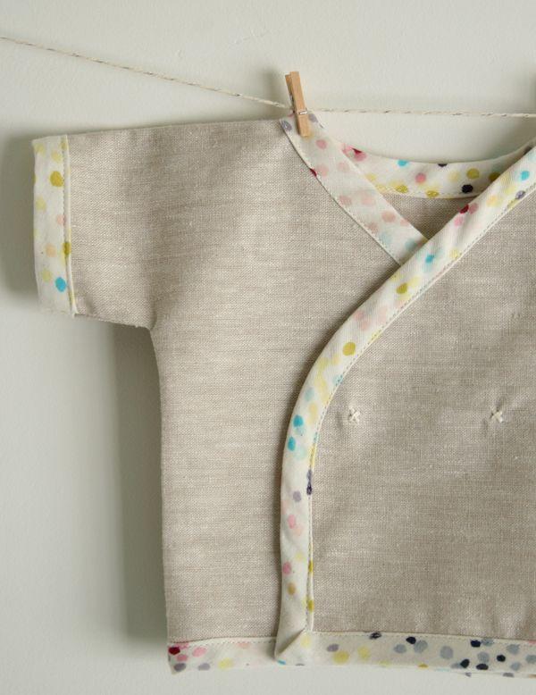 Newborn Kimono Shirt Free Pattern and Tutorial - the purl bee