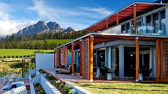 Accommodation in the Cape Winelands | Nightjar Travel After acquiring this spectacular property at the top of Helshoogte Pass, Dutch couple Paul and Jolanda remodelled the existing guest house into a superbly stylish boutique hotel that fully showcases what is surely one of the best views in the Cape.
