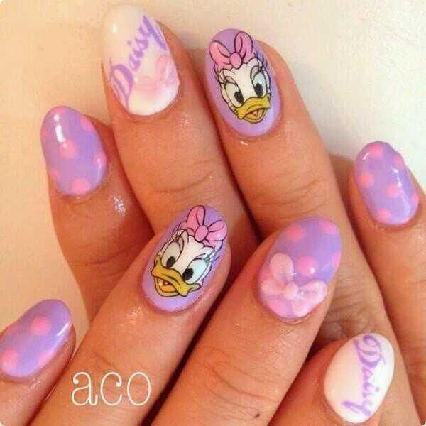 Daisy Duck nails