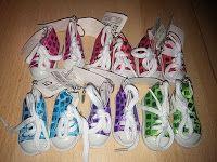 Produkttests und mehr: German Trendseller® - 12 x Glitzer Turn -Schuhe 80...