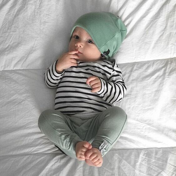 Stripe Shirt and Green Pants 3 Piece Set – Snips and Snails