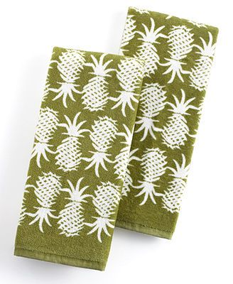 Tommy Bahama Kitchen Towels, Set of 2 Pineapple Pop