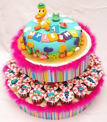 Bake At Home | Cake | Cupcakes | Tartlets | Figurines Cake | Wedding Cake | Edible Image: Cake | Pato (Pocoyo) Novelty Cake