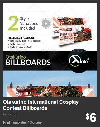 Otakurino International Cosplay Contest Billboards