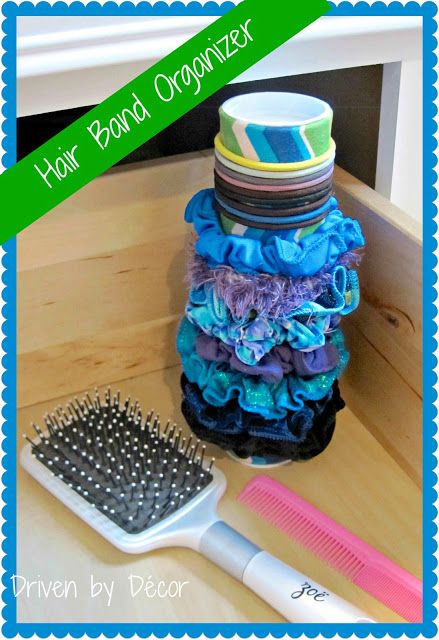 DIY Organizer for Hair Accessories | drivenbydecor.com
