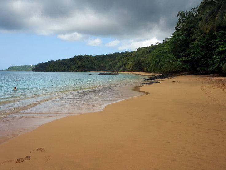 Reasonable snorkeling is possible off Praia Rita at Bom Bom Island Resort on Principe Island, São Tomé and Príncipe.