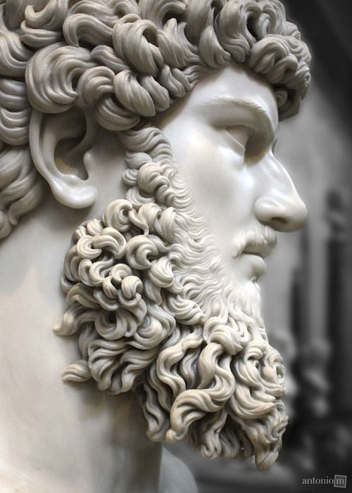 Bust Of Lucius Verus Chatsworth House Derbyshire Uk