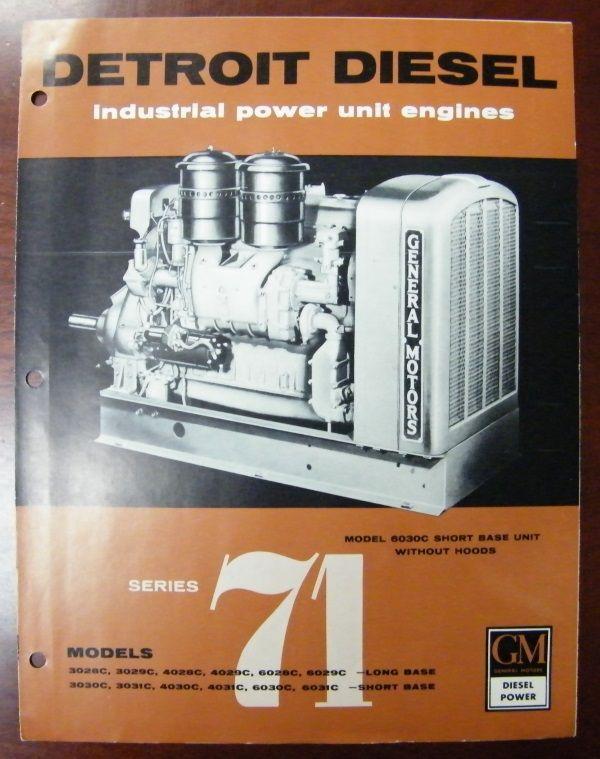 Detroit Diesel Industrial Power Unit Engines Brochure Old Ads