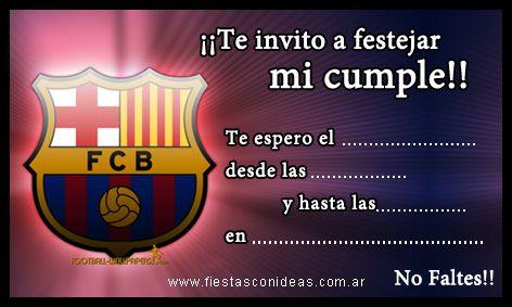 Tarjeta de cumpleaños de Barcelona-FC