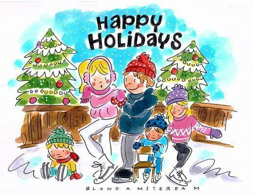 Happy Holidays (op 't ijs) - Blond Amsterdam