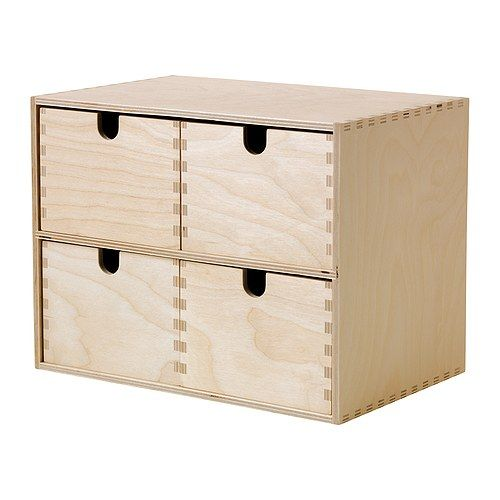 MOPPE Miniladekast IKEA Onbehandeld hout; kan worden behandeld met olie of lazuur voor een persoonlijk tintje en een slijtvast oppervlak.
