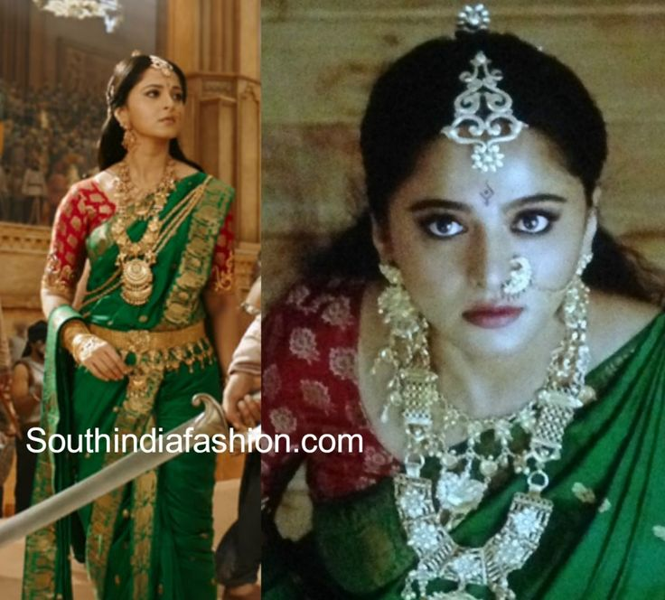 ANUSHKA SHETTY GREEN SAREE BAAHUBALI 2