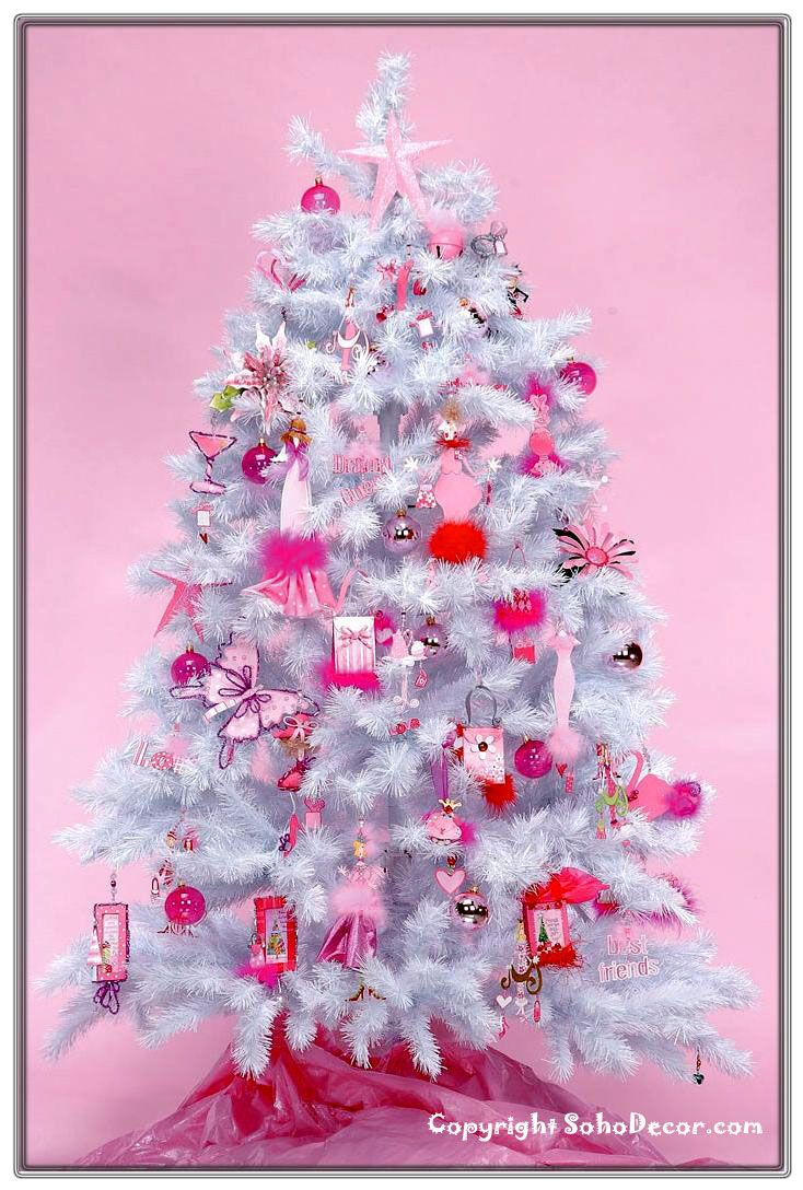 Hot pink christmas tree decorations - Find This Pin And More On Princess Tree Ideas Christmas More Than A Hot Pink Girly Ornament