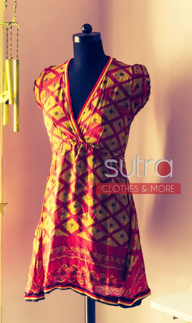 Sheer delight    Printed georgette kurti with gathered elasticized waist and puffy sleeves  http://on.fb.me/S5Dypx