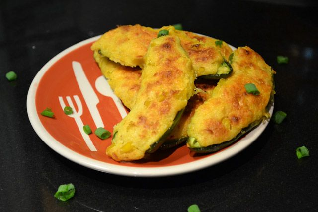 Jalapeno Cornbread Poppers- everything about this is right....except it's obvious lack of bacon. :) When's the next family function??