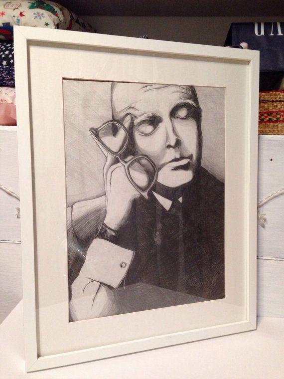 Карандашный рисунок-Искусство-Портрет-Ручная от MySweetHomeShop