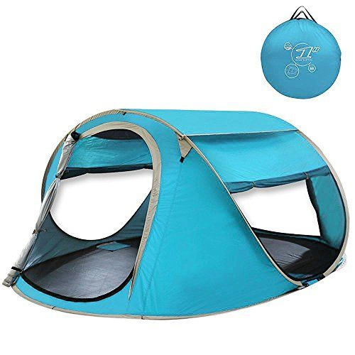 G4Free Large Pop Up Camping Tent Automatic Instant Setup Easy Fold back Beach Shelter with ANTI-UV Coating for 2-3 person