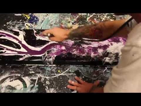 Gypsy Rose - Fluid Acrylic Art - Modern Art by Eric Siebenthal - YouTube