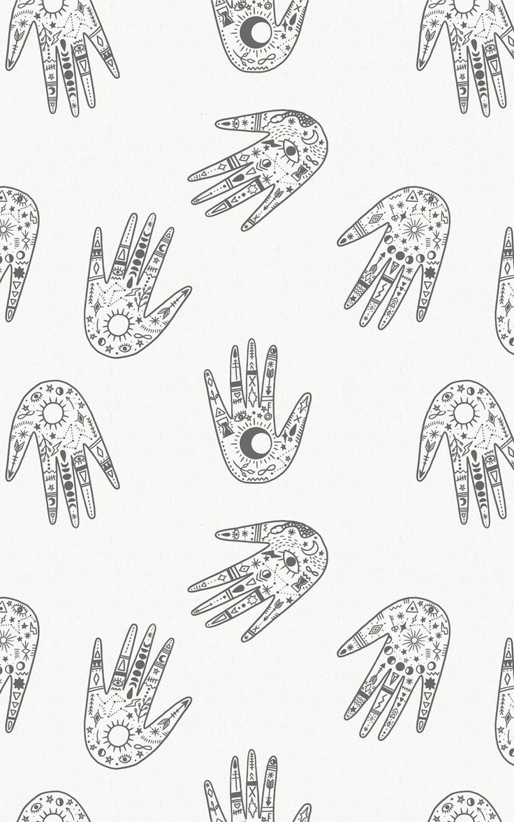 Decorate your space with mystic charm. Our Palm Reader wallpaper in minimal Black and White colours is a repeat pattern of hands, illustrated with detailed symbols that'll add to the cosmic style of your interiors. This wallpaper is the ideal upgrade for the plain white wall in your Boho bedroom or eclectic living room. Or, why not use this pattern as the magical backdrop to a personal chill-out zone, full of string lights, books and plants. Witchy Wallpaper, Forest Wallpaper, Flower Wallpaper, Wallpaper Ideas, Pattern Wallpaper, Childrens Shop, World Map Wallpaper, Eclectic Living Room, Design Repeats