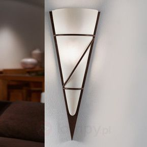 Lampa ścienna Pascal 48 antyczny brąz wapnowany