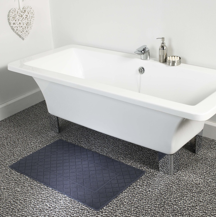 Boutique Bath Mat in Slate