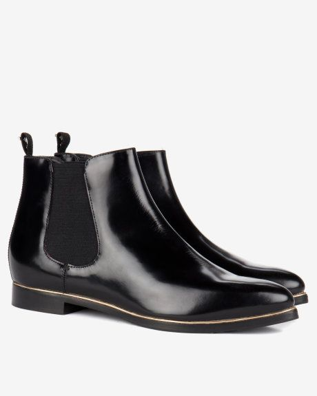 Pointed ankle boots - Black | Footwear | Ted Baker UK