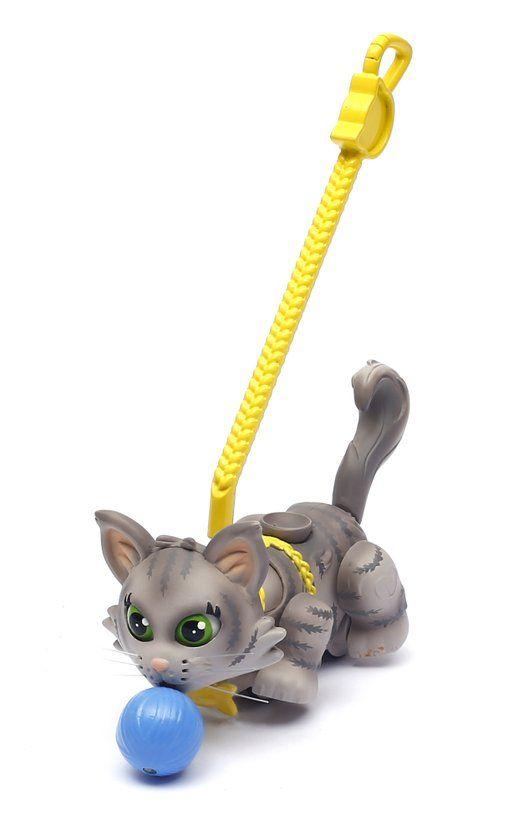 bol.com | Pet Parade - Blister met 1 kat, 1 bol wol en leiband inbegrepen, Grijze Siberische kat