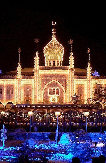 Tivoli, Copenhagen, Denmark. Didn't get to go in as they were closed. Definitely on the list for next time!